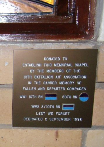 10th Battalion AIF Plaque:02-August-2013