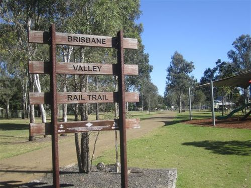 Brisbane Rail Trail Sign : 05-08-2013