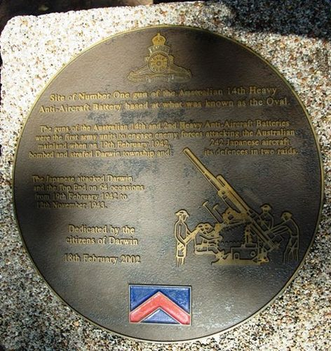 14th & 2nd Anti-Aircraft Batteries 60th Anniversary Plaque / May 2013