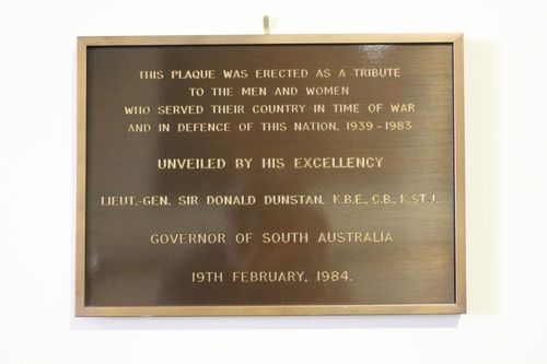 1939 - 1983 Plaque : 06-May-2012