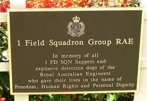 1 Field Squadron Plaque /March 2013