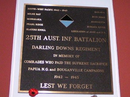 25th Battalion darling Downs