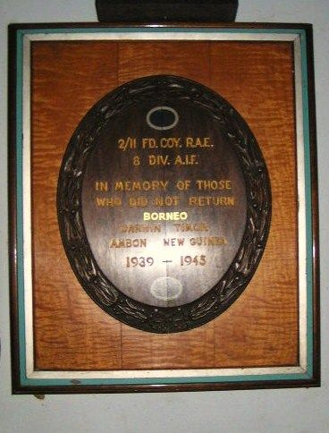 2 11 Field Coy RAE Plaque