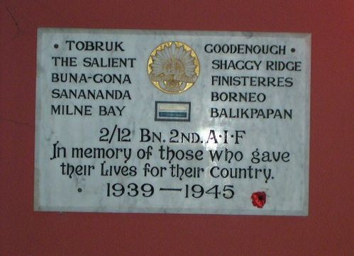 2 12th 2nd Battalion Plaque