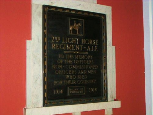 2nd Light Horse Regiment Plaque