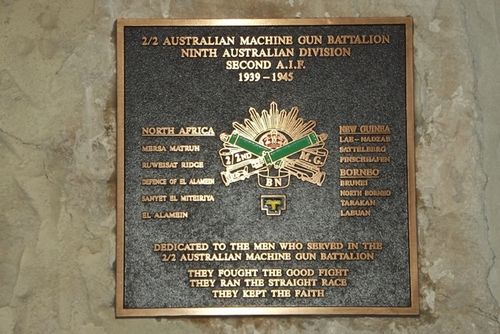 2-2nd Australian Aust. Machine Gun Battalion Plaque : March 2014