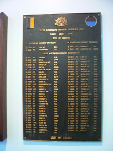 31/51 Australian Infantry Battalion Roll of Honour : 23-April-2011
