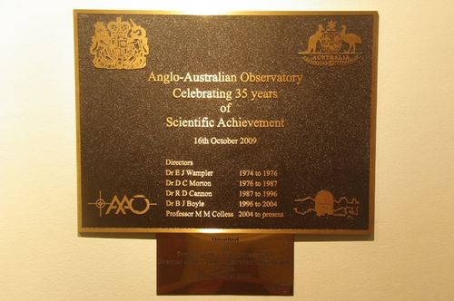 35 Years Plaque : July 2014