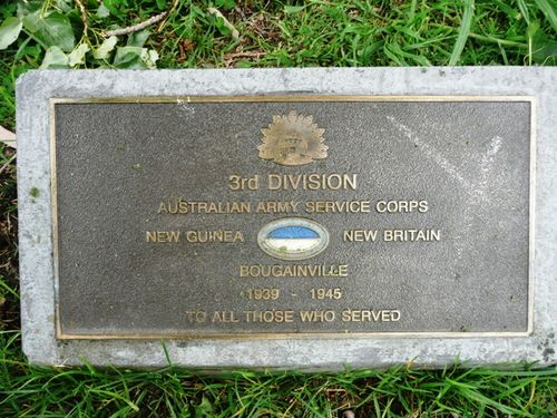 3rd Division Australian Army Service Corps : 24-October-2011
