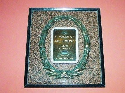 42nd Battalion Capricornia Regt  Plaque