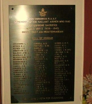 459 Squadron Roll of Honour