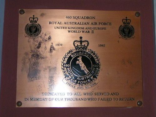 460 Squadron Plaque