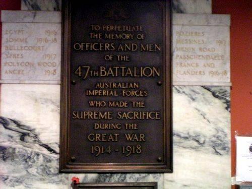 47th Battalion Plaque 2