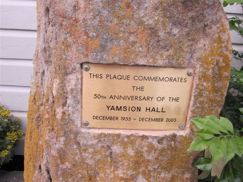 Yamsion Hall Plaque : 23-04-2011