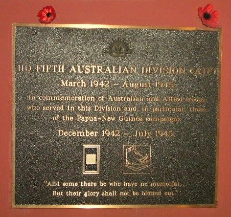 5th Aust Division HQ Plaque