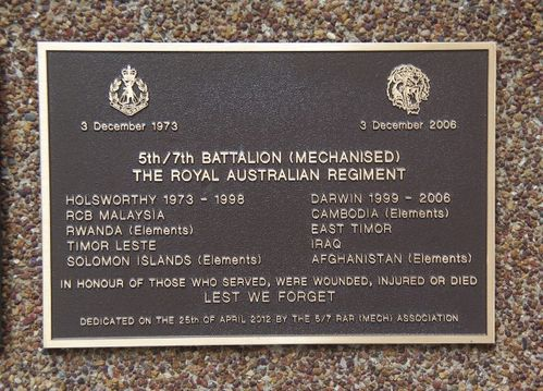 5th / 7th Battalion (Mechanised) Royal Australian Regiment : 04-March-2013