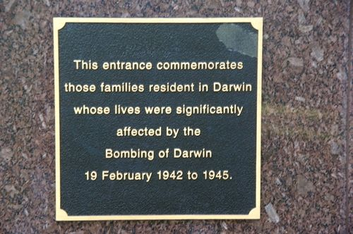 Darwin Memorial Entrance Inscription
