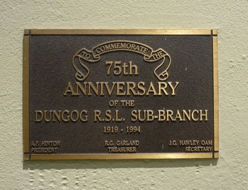 75th Anniversary of Dungog RSL : 17-December-2012