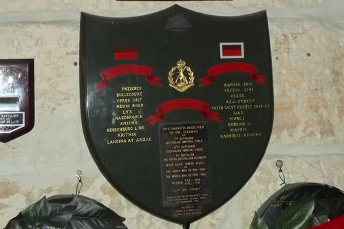 7th Battalion Shield : March 2014