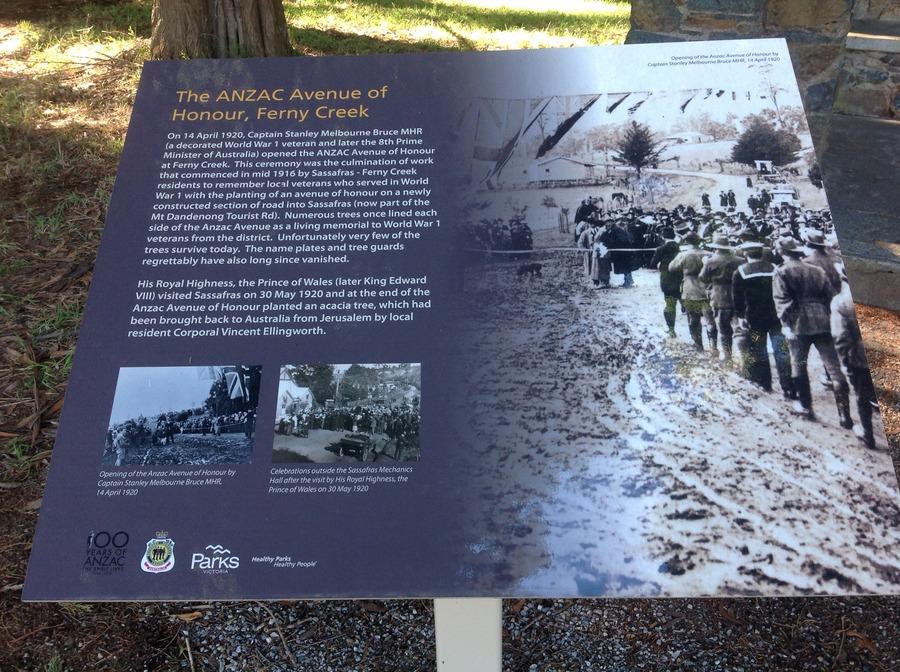 ANZAC Avenue of Honour