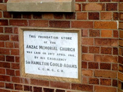 ANZAC Memorial Church Plaque