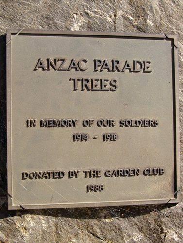 Anzac Parade Plaque Inscription : 11-August-2014