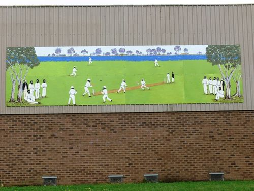 Aboriginal Cricket Team Mural : 01-November-2011