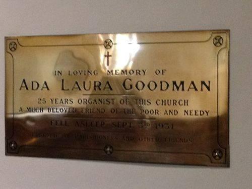 Ada Goodman Plaque : November 2013