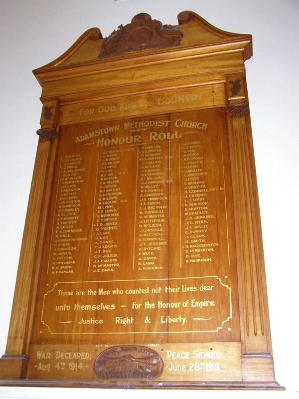 WW1 Honour Roll : 07-September-2014