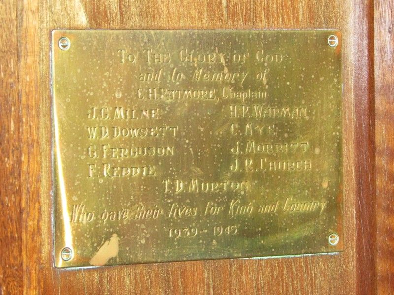 Plaque Inscription : 31-March-2015