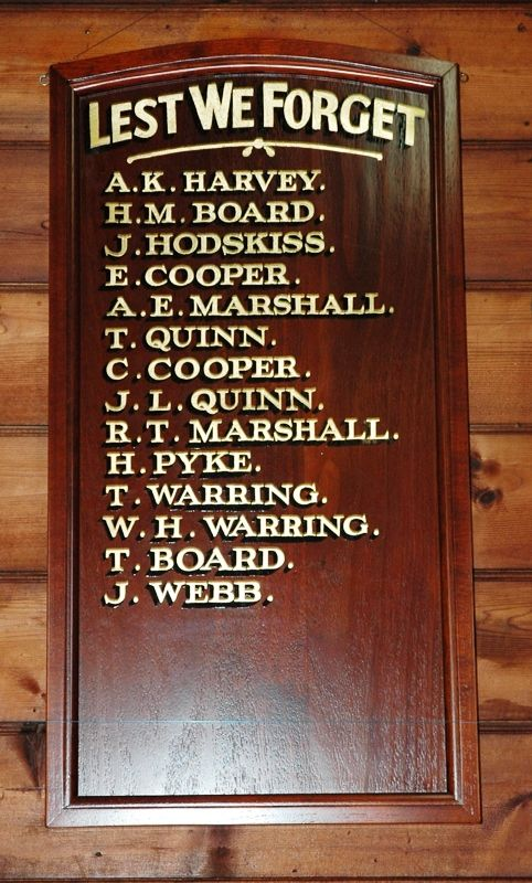 02-November-2014 : Replica Honour Roll