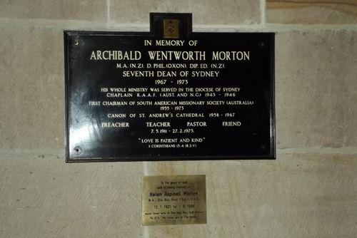Archibald Morton Plaque : March 2013