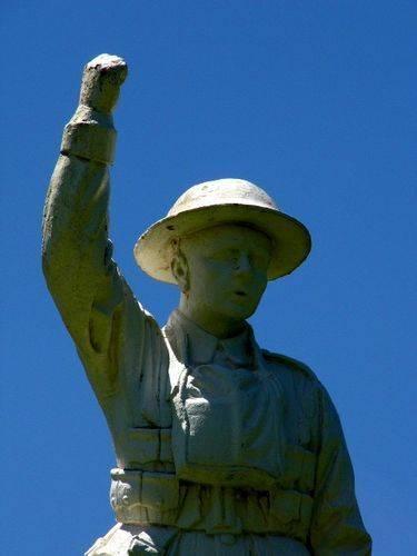 Atherton War Memorial Statue Cloesup