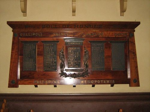 Auburn Congregation World War One Honour Rolls : 15-June-2012