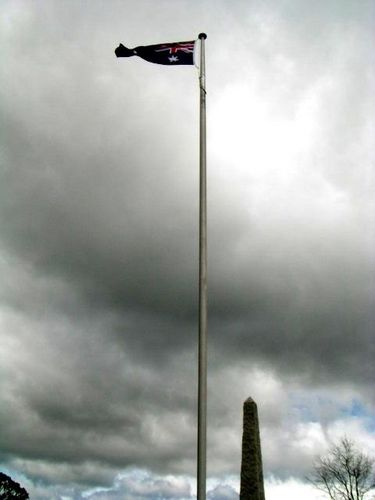 Australia Remembers Flagpole