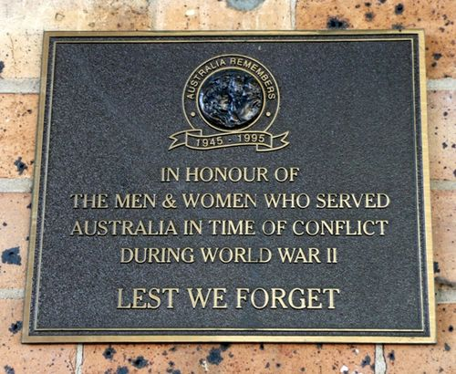 Australia Remembers Plaque : 26-June-2012