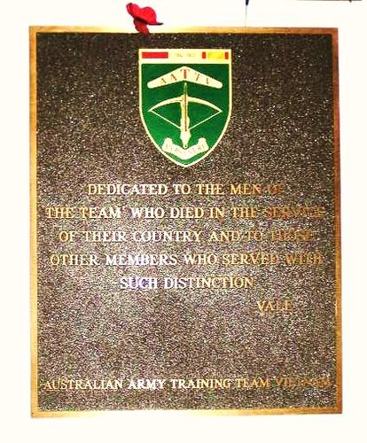 Australian Army Training Team Plaque