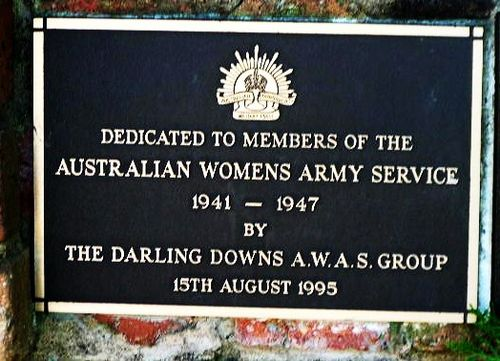 Australian Womens Army Service 1941 1947 Plaque