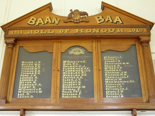 Roll of Honour : 13-August-2014