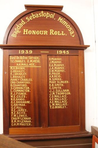 Bagdad, Sebastopol & Mimosa Honour Roll : 29-September-2012