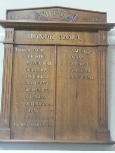 Ballarat Fire Brigade Roll of Honour : 04-March-2013