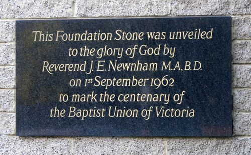Baptist Union Centenary : 13-August-2012