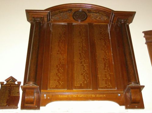 WW1 Honour Board : 27-03-2014