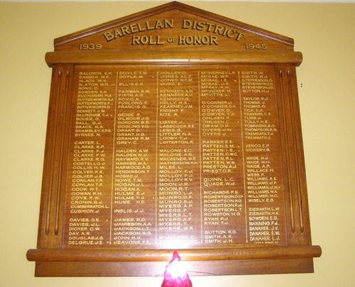 Barellan District Honour Roll : 27-03-2014