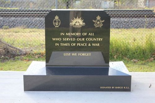 Bargo War Memorial : 04-July-2011