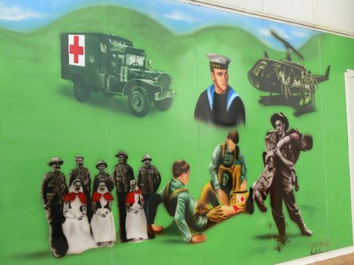 Barwon Health Garden Mural : 28-August-2011