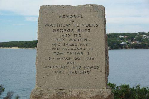 Bass + Flinders Memorial Inscription