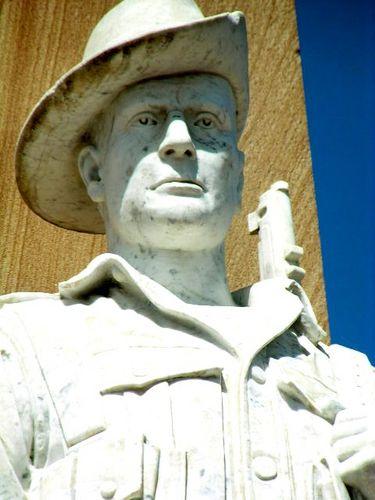 Beaudesert War Memorial Digger Closeup