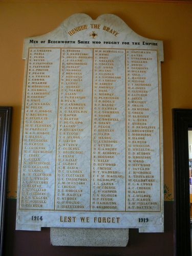 Beechworth Honour Roll