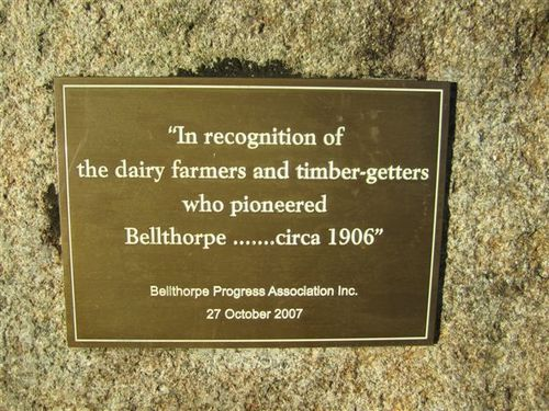 Bellthorpe Pioneers Plaque : 02-01-2012